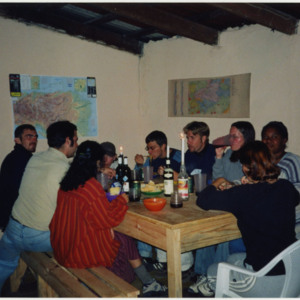 Photograph of Peace Corps Volunteers in Honduras celebrating Thanksgiving in 2000.